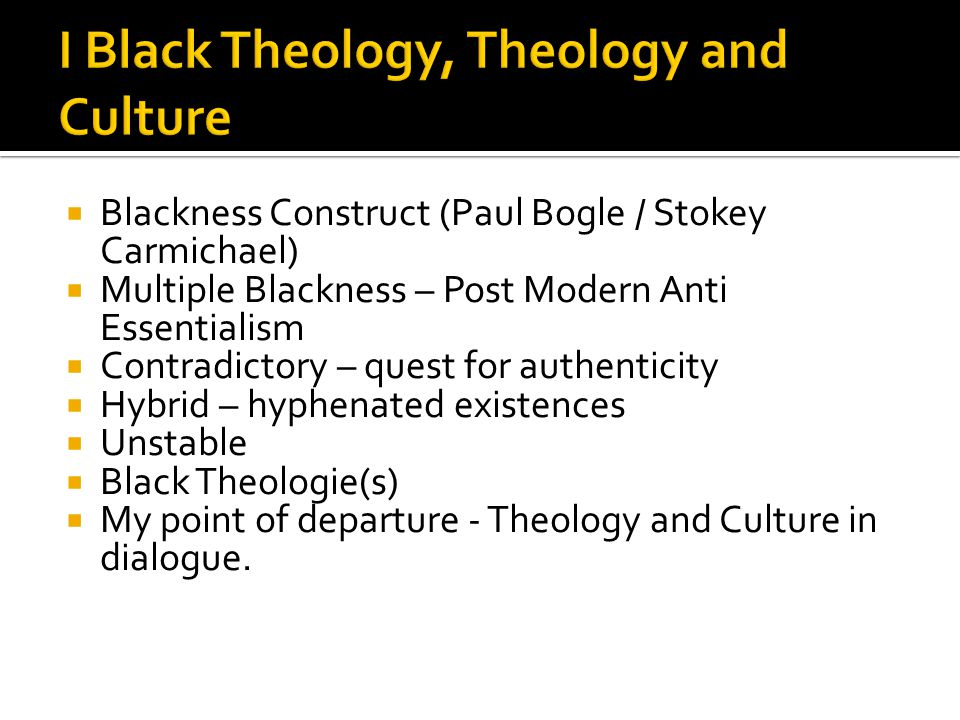 Precedent - Theology and Culture in BT