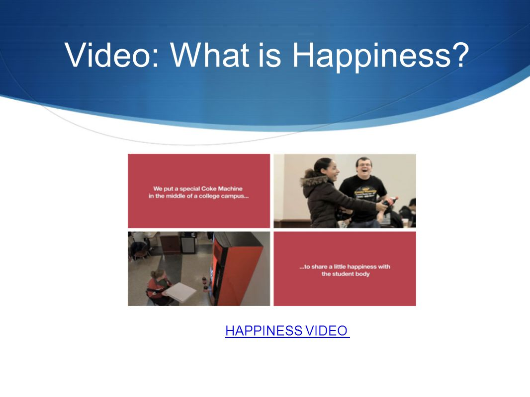 Video: What is Happiness? HAPPINESS VIDEO