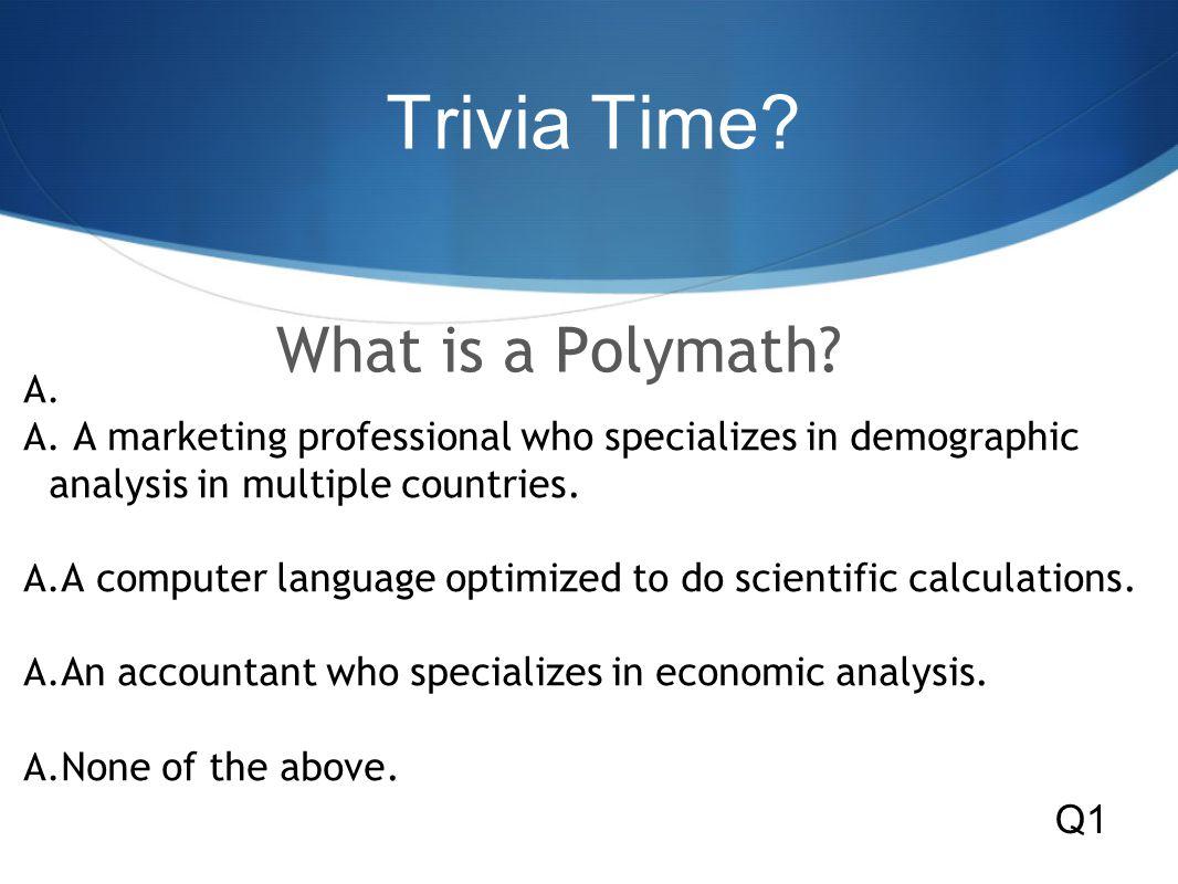 Trivia Time.A.