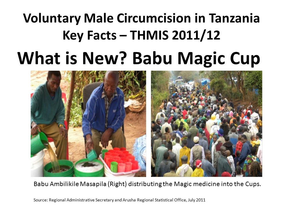 Voluntary Male Circumcision in Tanzania Key Facts – THMIS 2011/12 What is New.