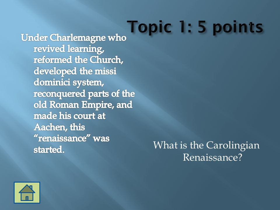 What is the Carolingian Renaissance