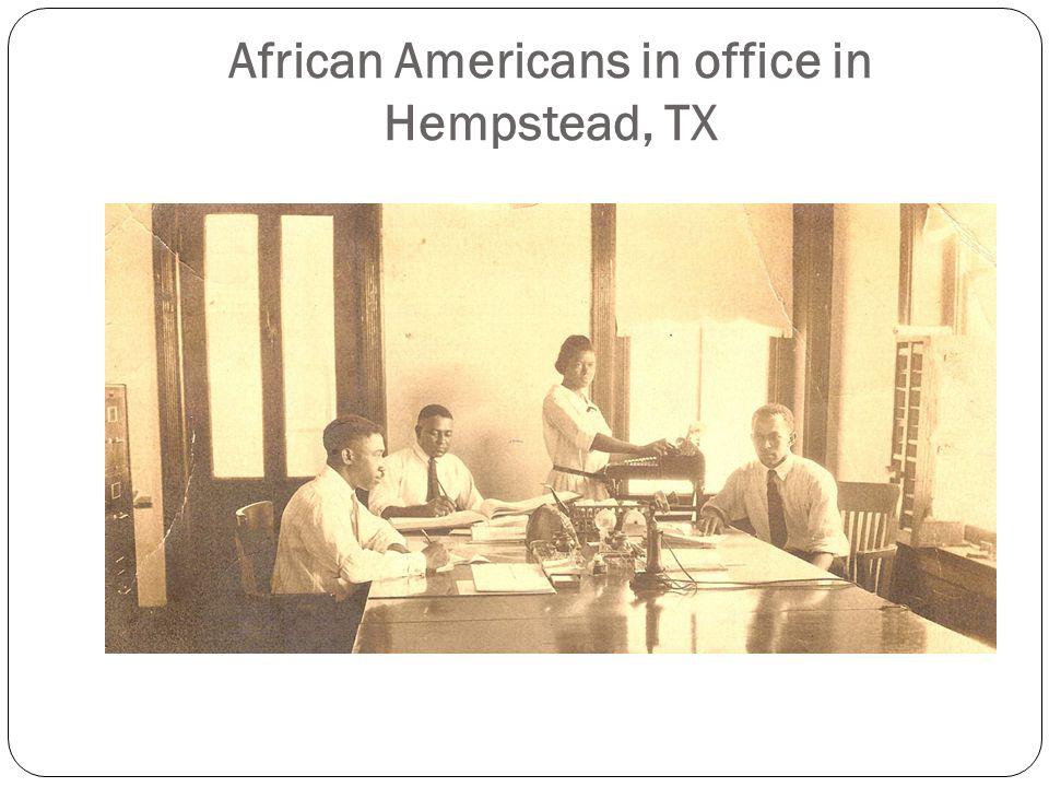 African Americans in office in Hempstead, TX