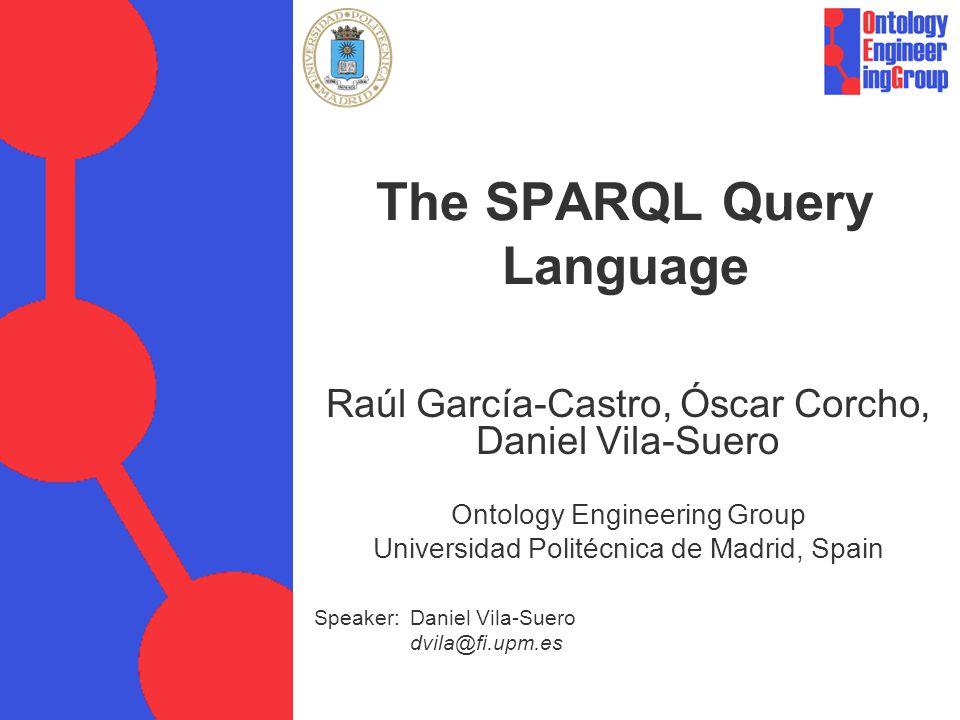 © Raúl García Castro et al.A simple SPARQL query @prefix dc:.