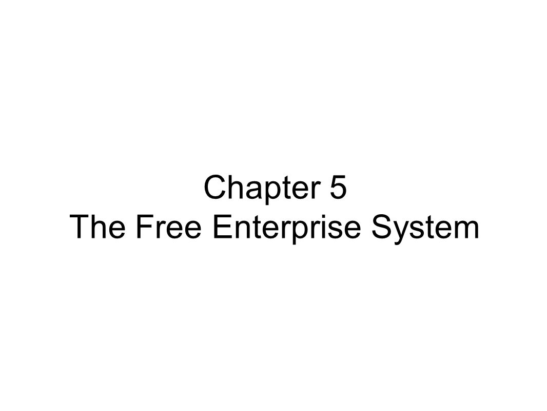 Chapter 5.1 Objectives Explain the Characteristics of a Free Enterprise System Distinguish between price and nonprice competition Explain the theory of supply and demand