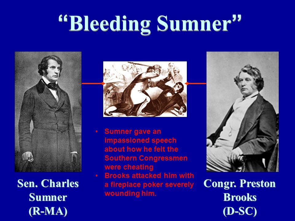 Bleeding Sumner Sen. Charles Sumner (R-MA) Congr.