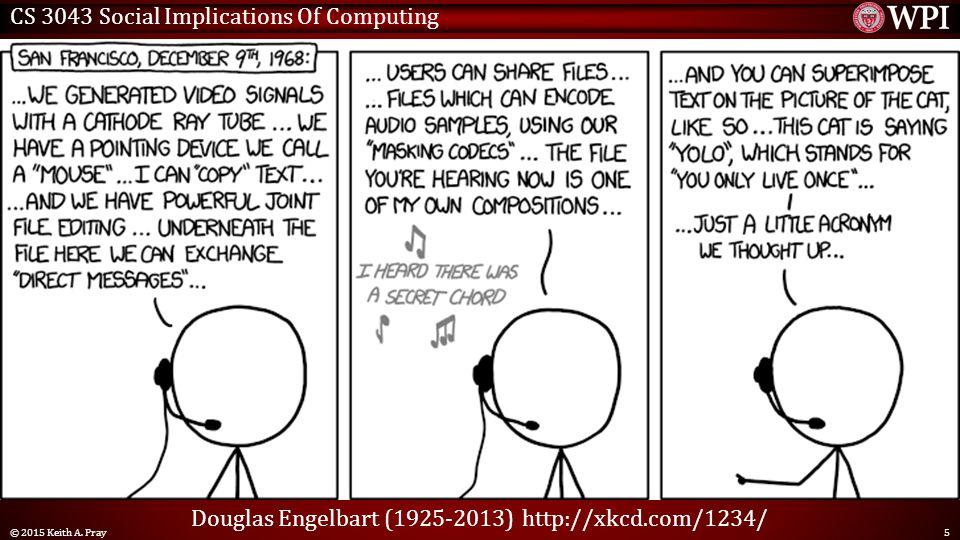 CS 3043 Social Implications Of Computing © 2015 Keith A.