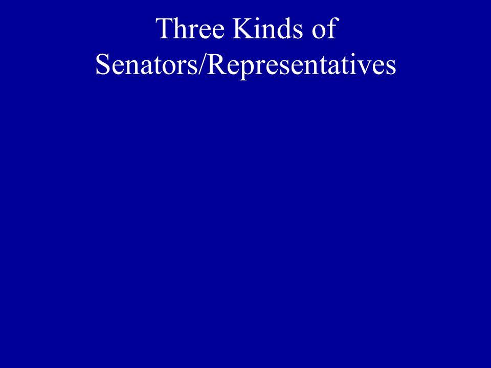 Three Kinds of Senators/Representatives