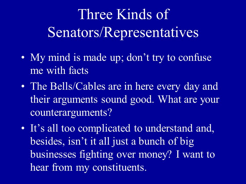 The Bell's/Cable's Big Lies (cont.) 9.QoS is the only way to provide high- quality bandwidth, and Network Neutrality will outlaw QoS.
