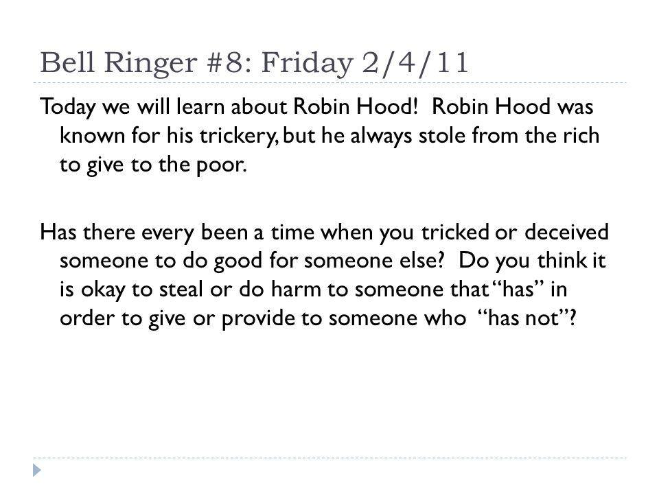 Robin Hood World Mythology Old English Unit - 2010