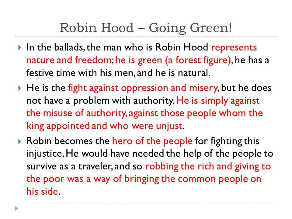 Robin Hood – Going Green.