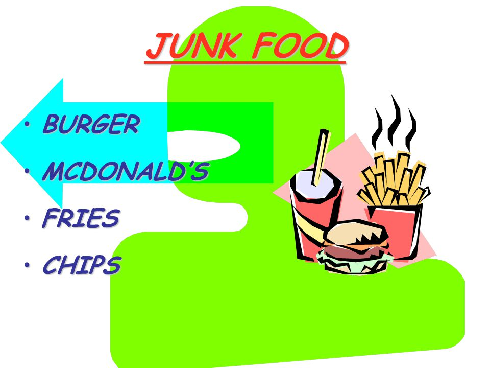 JUNK FOOD BURGERBURGER MCDONALD'SMCDONALD'S FRIESFRIES CHIPSCHIPS
