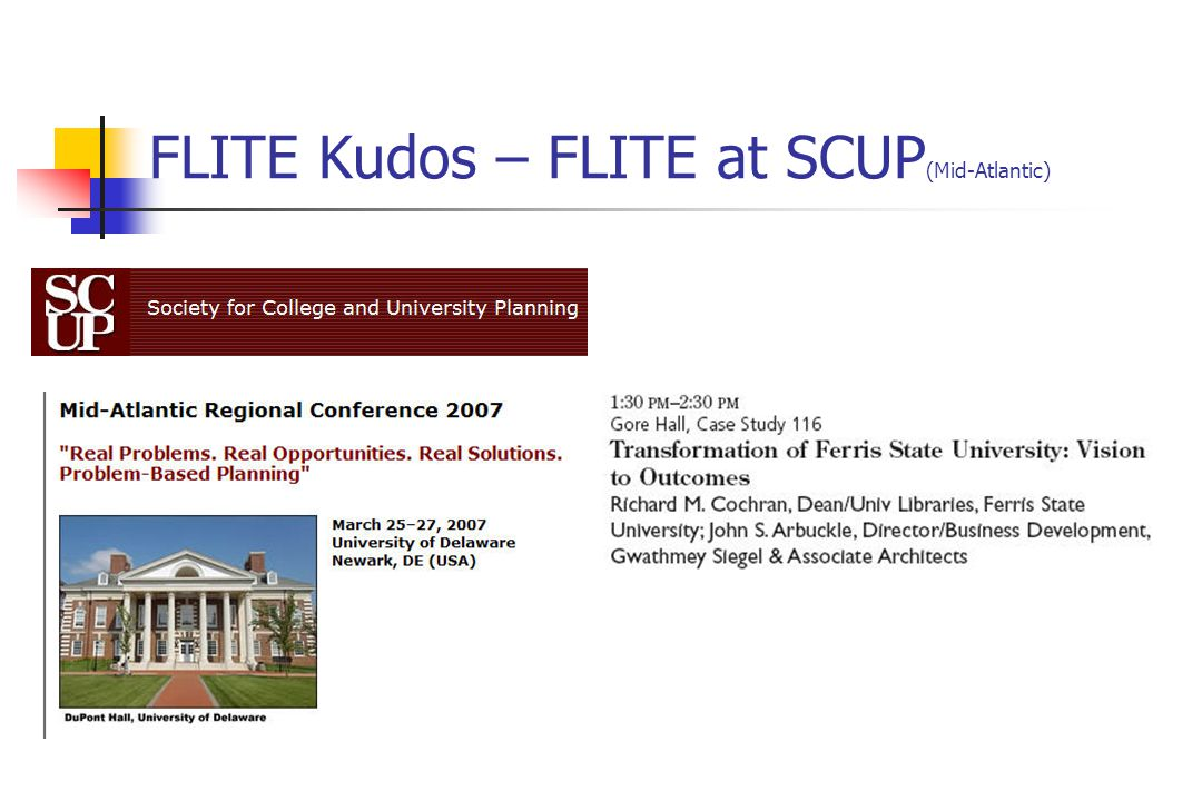 FLITE Kudos – FLITE at SCUP (Mid-Atlantic)