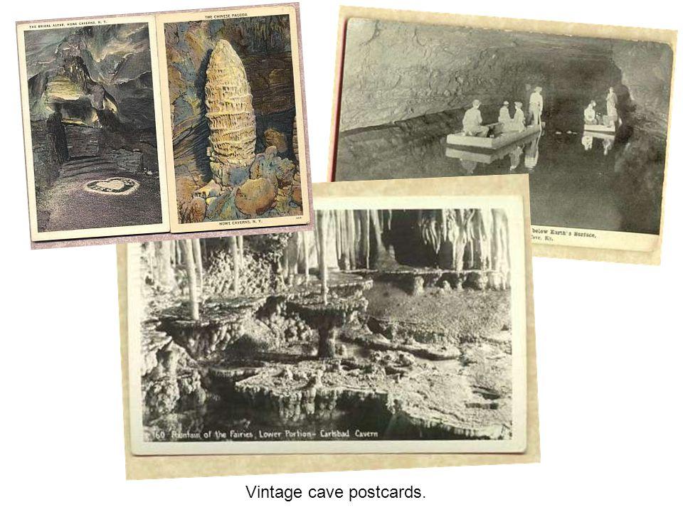 Vintage cave postcards.