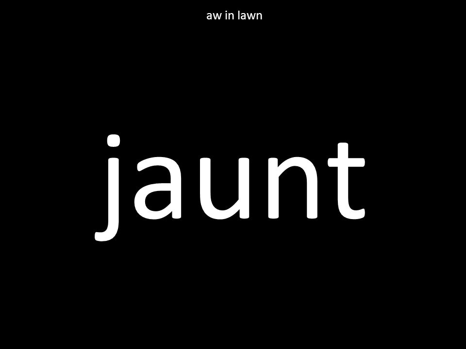 jaunt aw in lawn