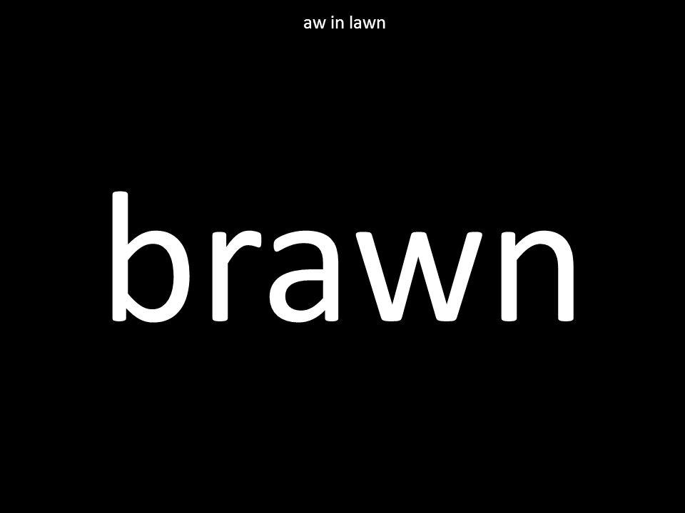 brawn aw in lawn