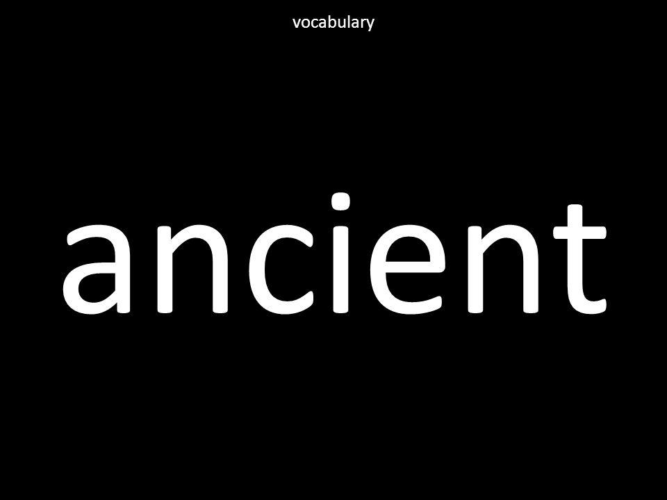 ancient vocabulary
