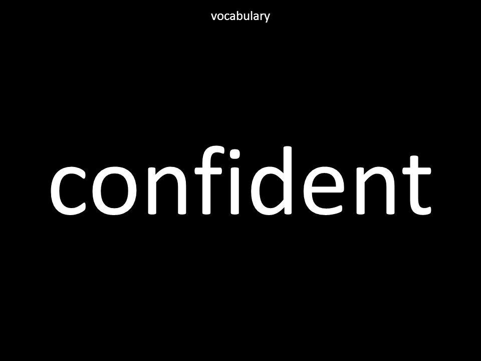 confident vocabulary
