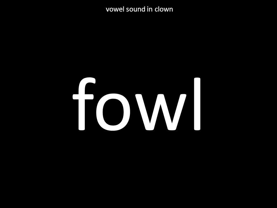 fowl vowel sound in clown