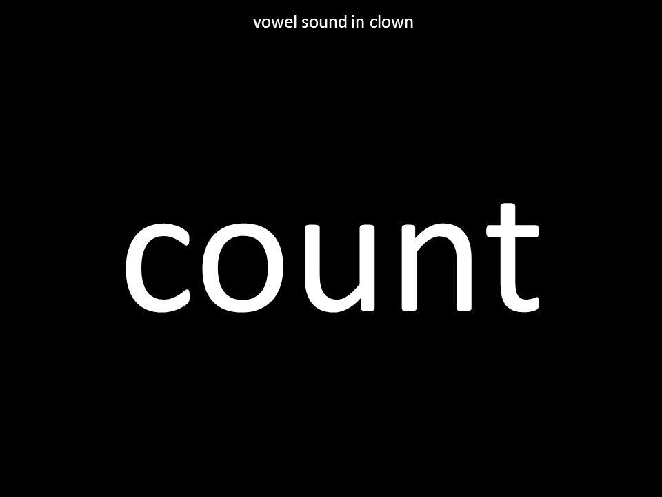 count vowel sound in clown