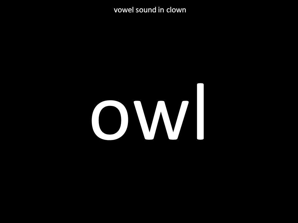 owl vowel sound in clown