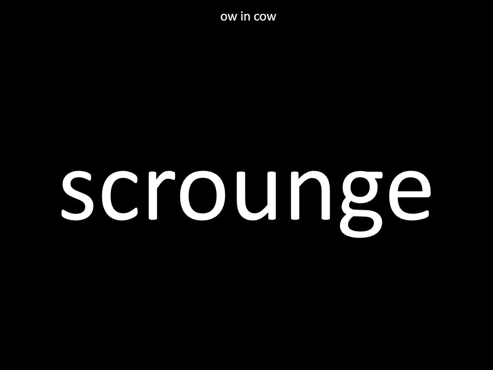 scrounge ow in cow