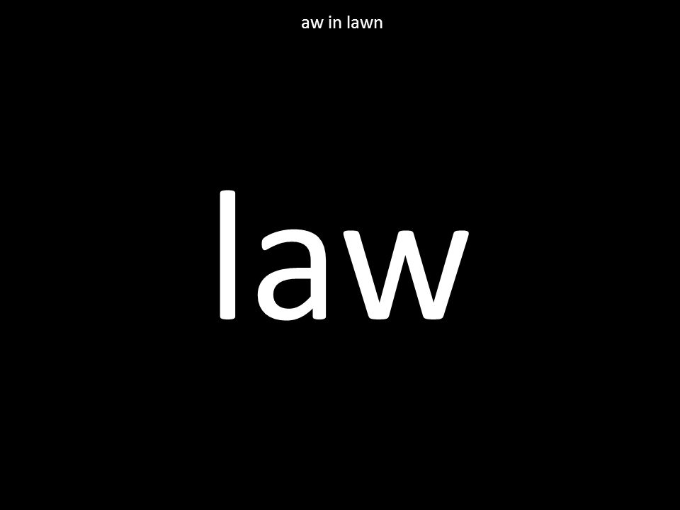 law aw in lawn