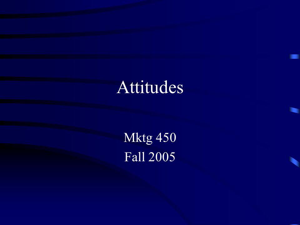 Attitudes Mktg 450 Fall 2005