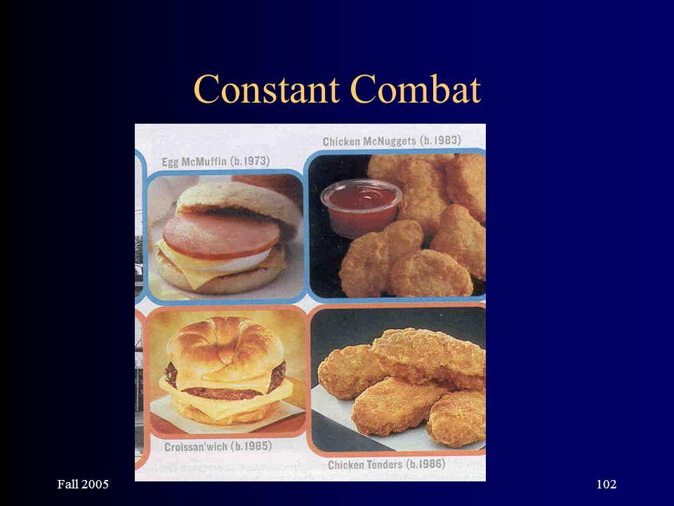 Fall 2005102 Constant Combat