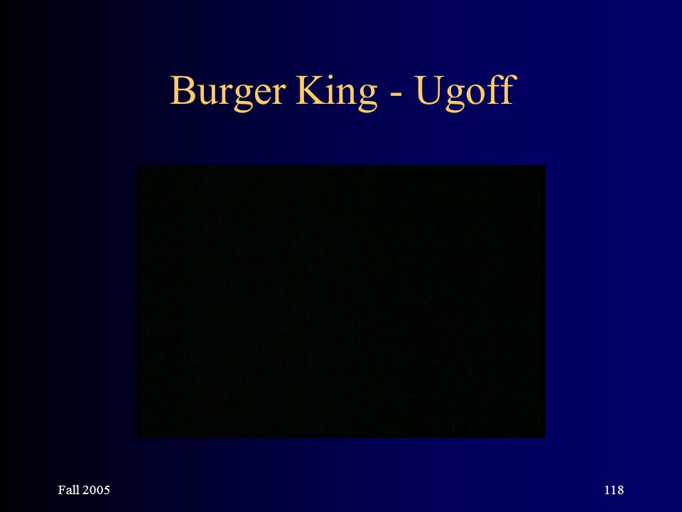 Fall 2005118 Burger King - Ugoff