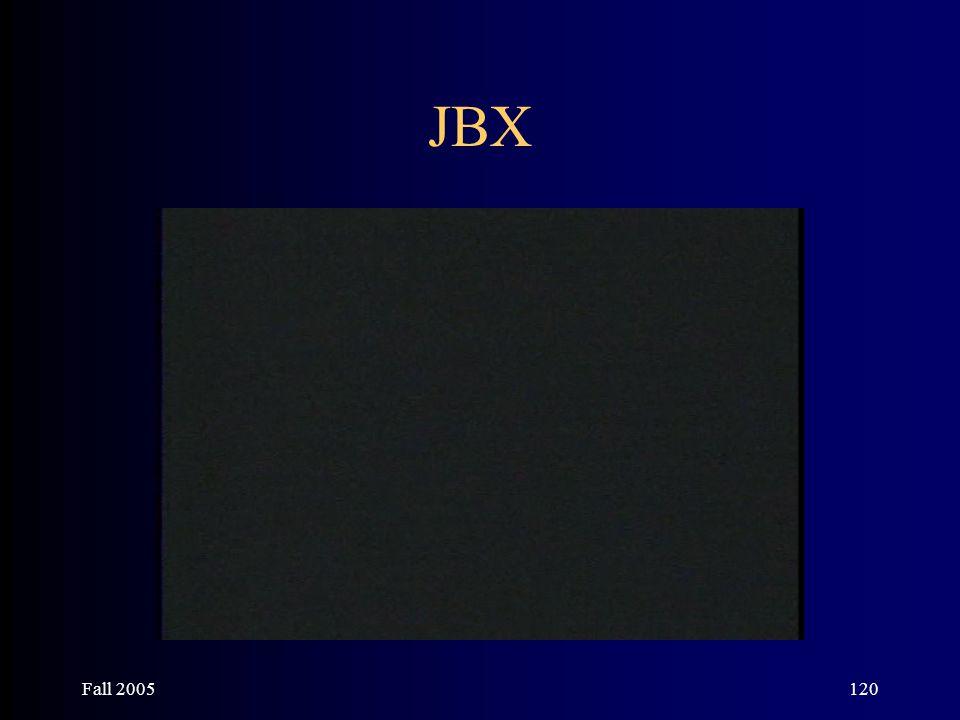 Fall 2005120 JBX