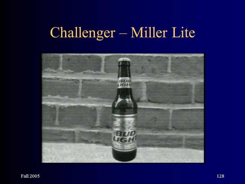 Fall 2005128 Challenger – Miller Lite