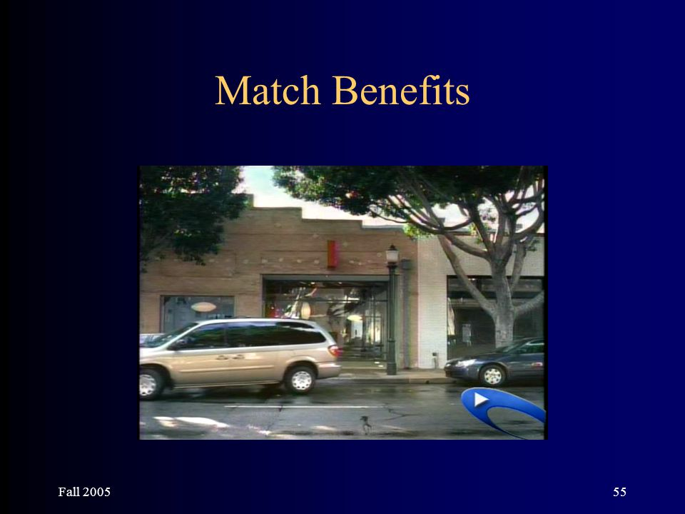 Fall 200555 Match Benefits