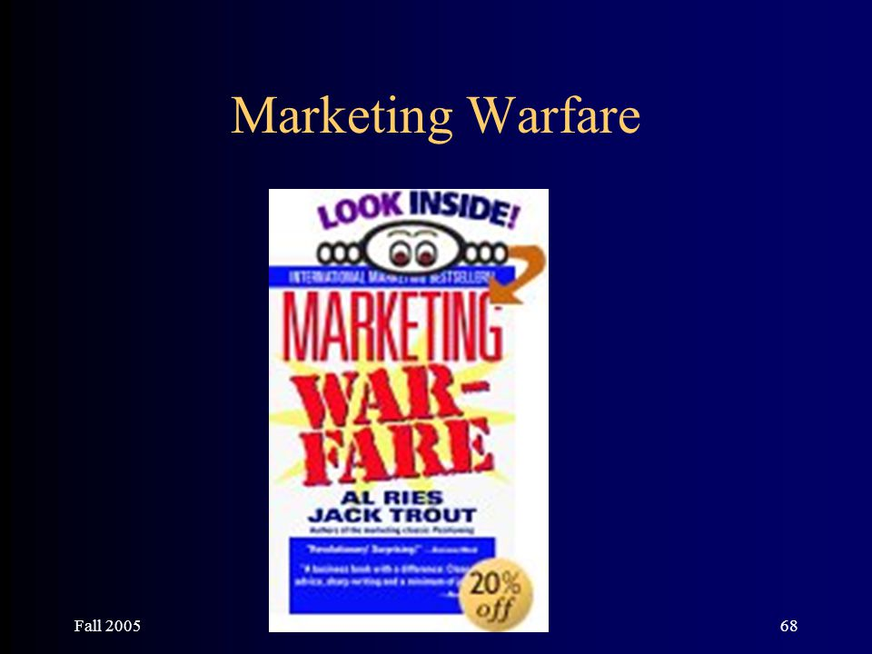 Fall 200568 Marketing Warfare