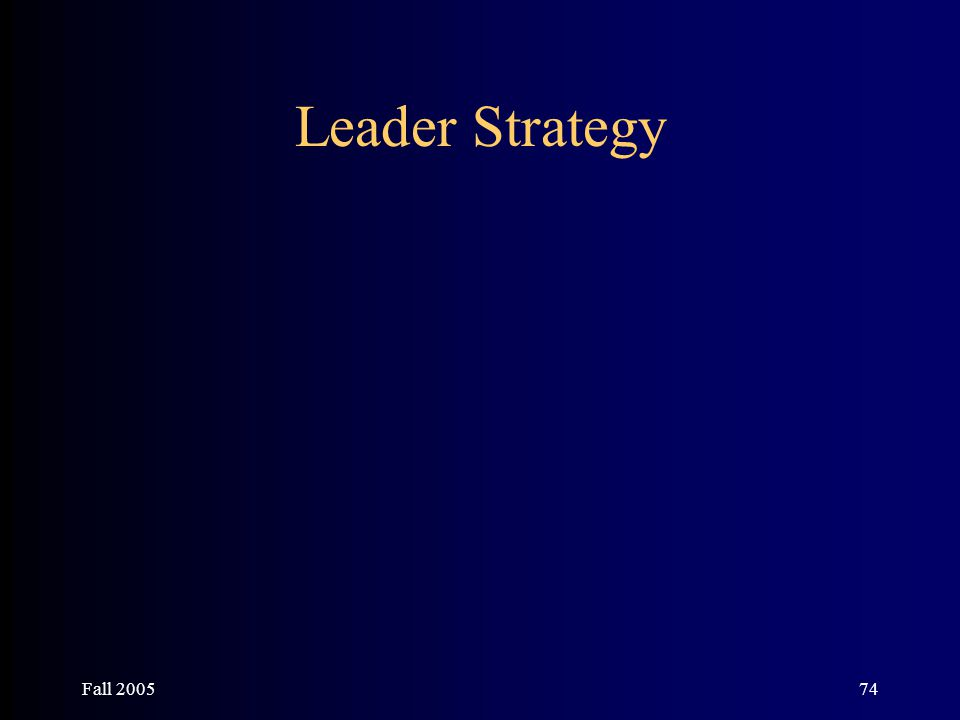 Fall 200574 Leader Strategy
