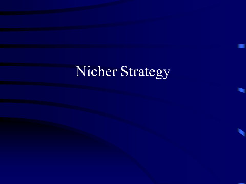 Nicher Strategy