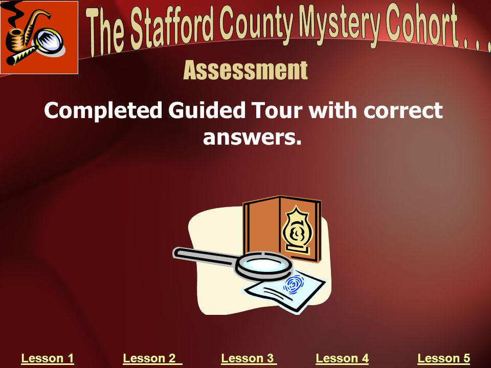 Assessment Completed Guided Tour with correct answers.