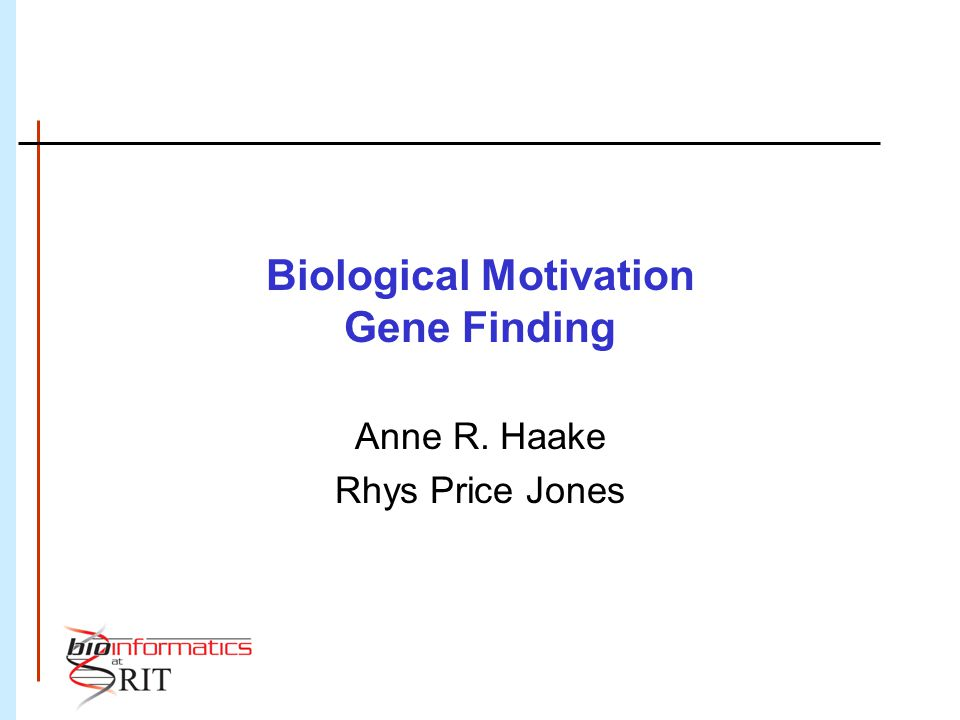 Gene Finding Why do it.
