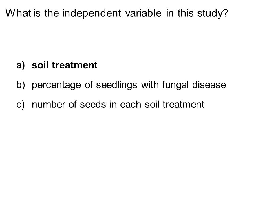 What is the independent variable in this study.
