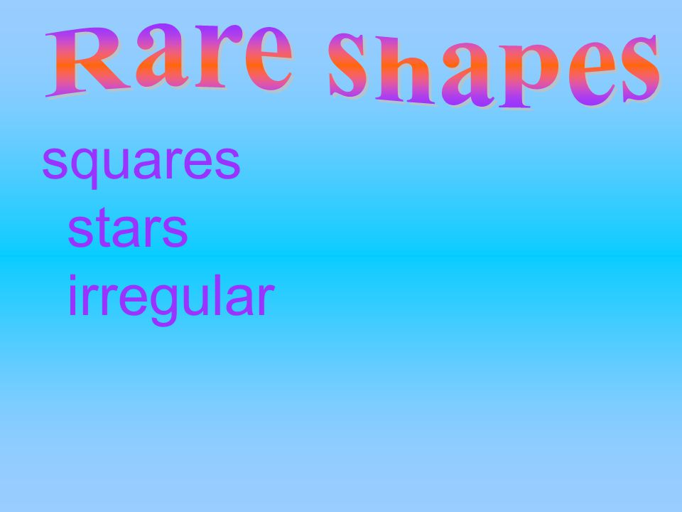 squares stars irregular