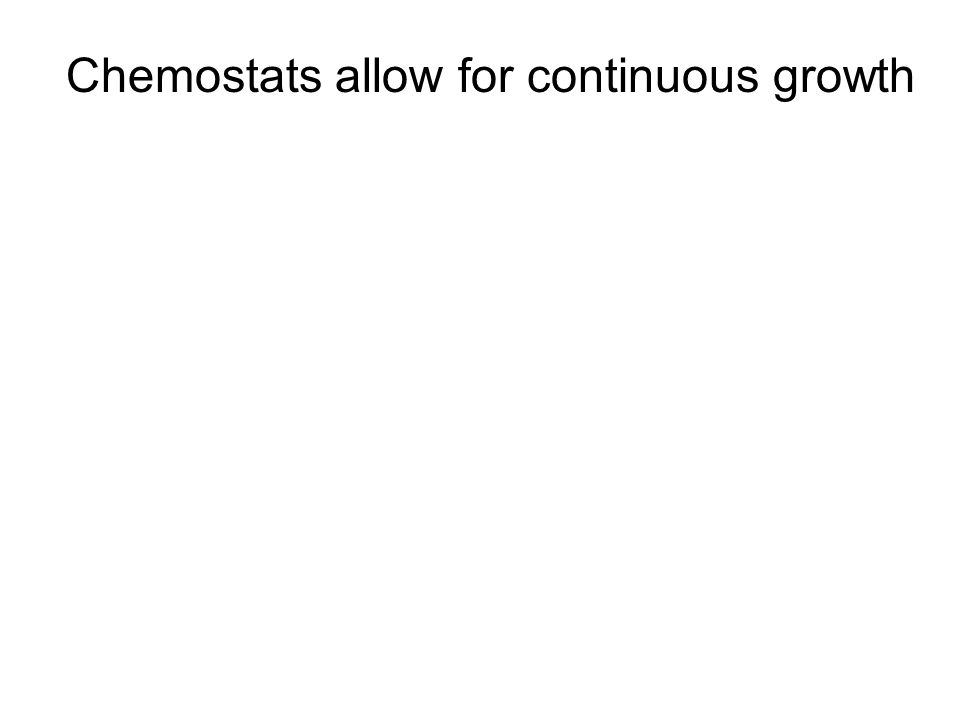 Chemostats allow for continuous growth