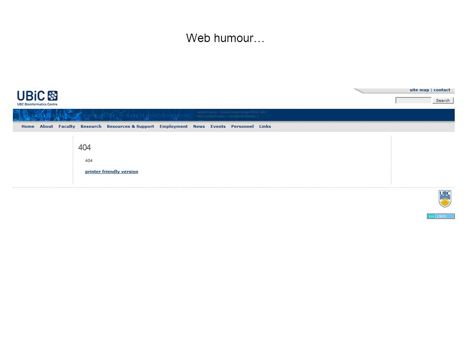 Web humour…