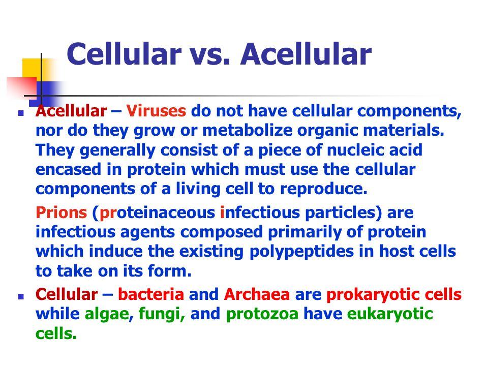 Cellular vs.