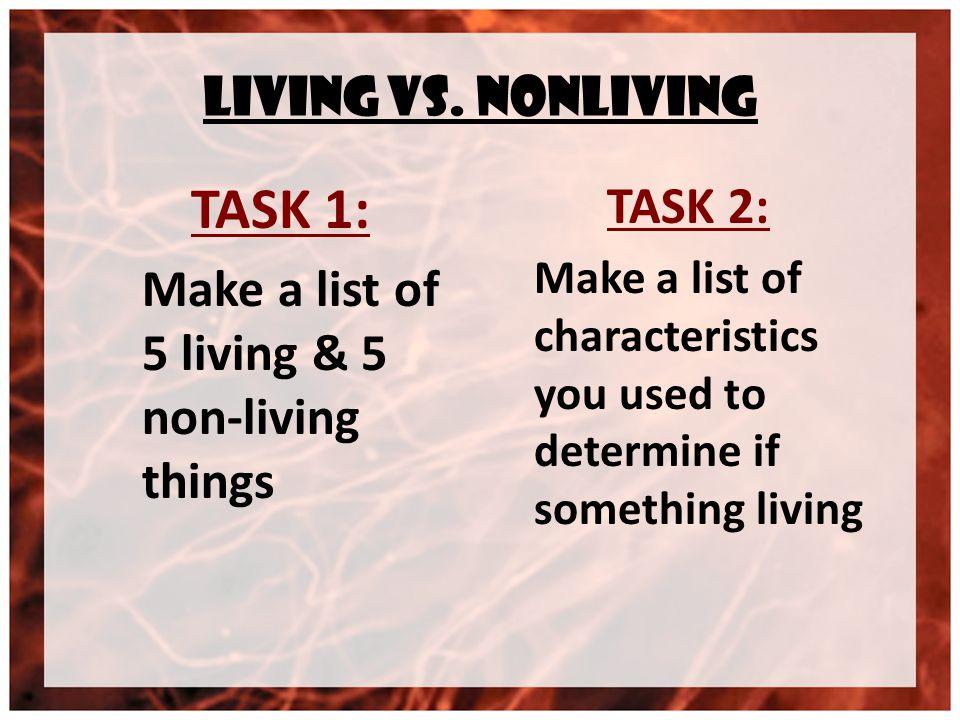 Living vs.