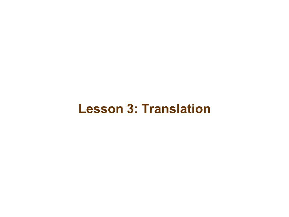 Lesson 3: Translation