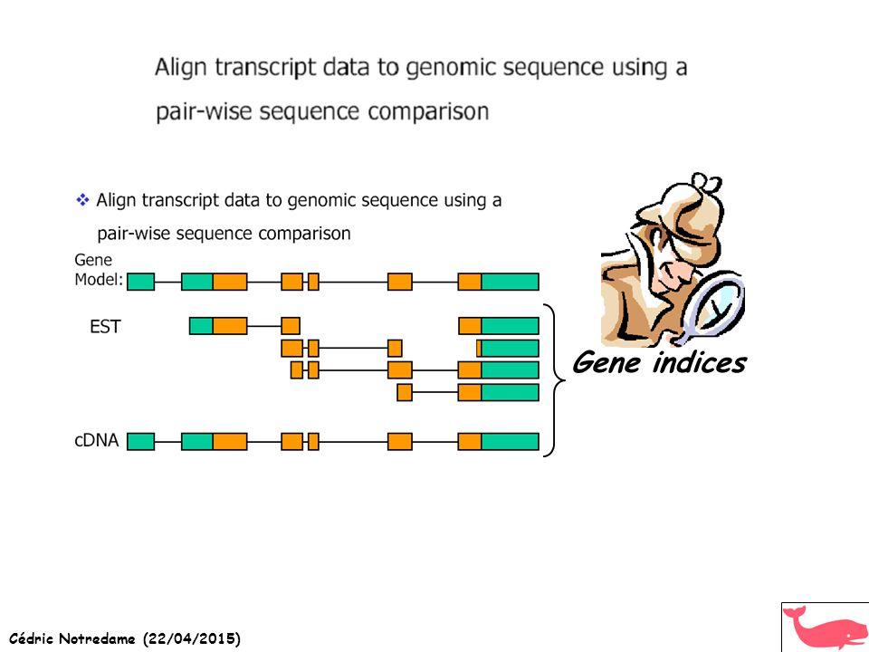 Cédric Notredame (22/04/2015) Gene indices