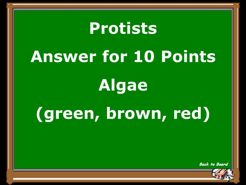 Protists Question for 10 Points Plant-like protists are called Show Answer