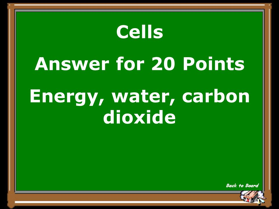 Cells Question for 20 Points These are the products of respiration Show Answer