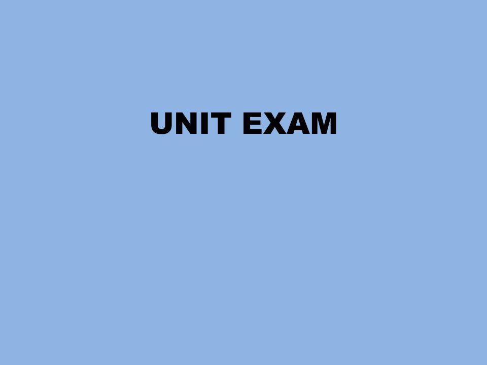UNIT EXAM