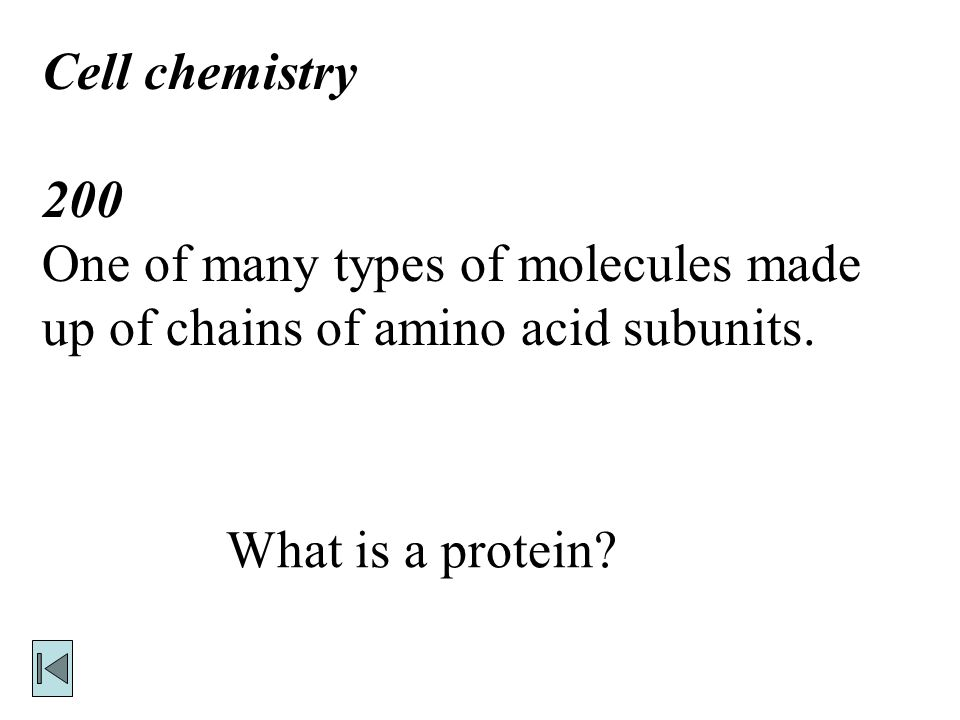 Cell chemistry 100 Process by which chemical changes occur. What is chemical reaction?