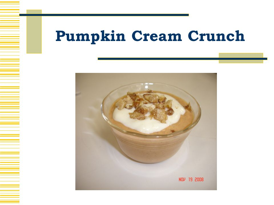 Pumpkin Cream Crunch